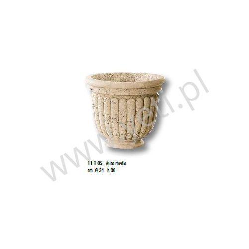 Donica trawertynowa vaso auro medio 34x30 cm marki Tecno art marmi