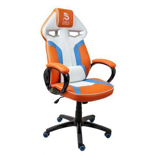 Fotel obrotowy gamingowy DRAGON Orange/Blue/White, Dragon Orange/Blue/White