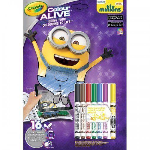 colour alive minionki marki Crayola