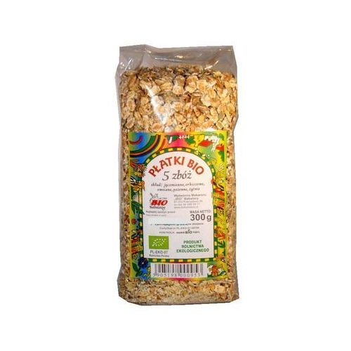 Babalscy: płatki zbożowe mix 5 zbóż BIO - 300 g (5905198000953)