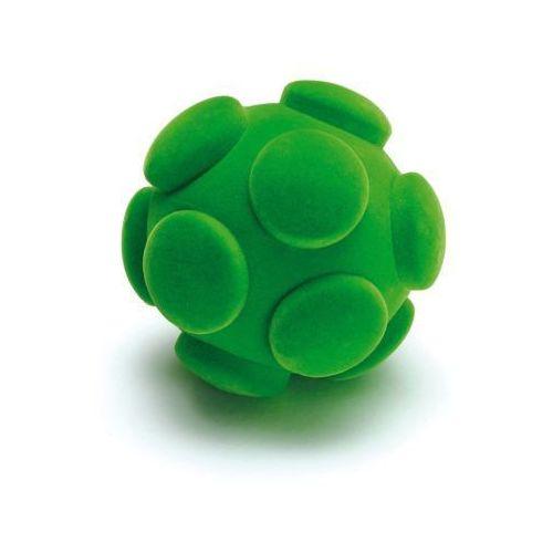 Gumowa zielona piłka do ćwiczeń manualnych i małej motoryki - zabawki dla dzieci