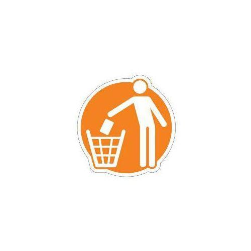 Splast Piktogram na kosz do segregacji pomarańczowy- odpady zmieszane