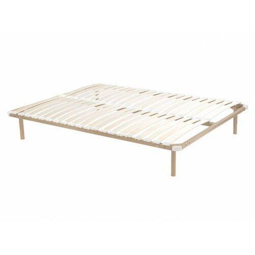 Rama łóżka z listewkami do samodzielnego montażu 140x190 cm - 2x19 listewek - Z nóżkami - Beżowy
