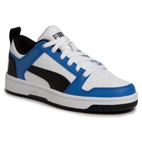 Sneakersy PUMA - Rebound Layup Lo Sl Jr 370490 06 Puma White/Palace Blue/Black, kolor niebieski