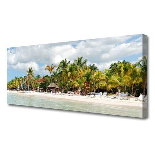 Obraz na płótnie plaża palma drzewa krajobraz marki Tulup.pl