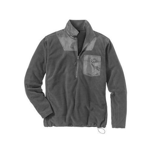 Bluza z polaru z zamkiem Regular Fit bonprix antracytowy, w 6 rozmiarach