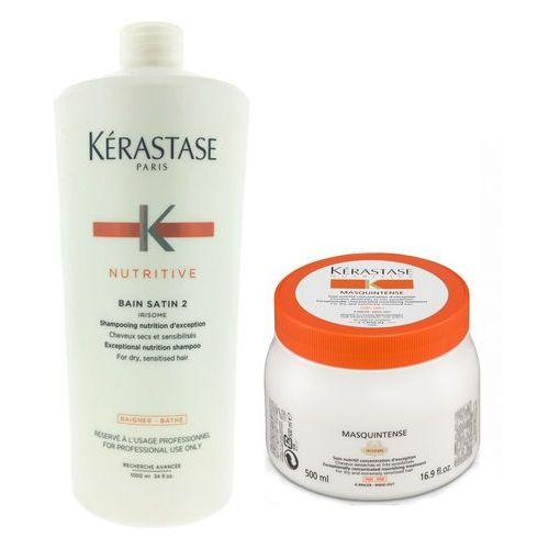 Kerastase Satin 2 Bain and Masquintense | Zestaw do włosów suchych i uwrażliwionych: kąpiel 1000ml + maska 500ml