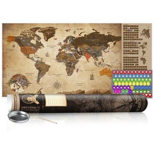 Artgeist Mapa zdrapka - mapa vintage - plakat (wersja angielska)