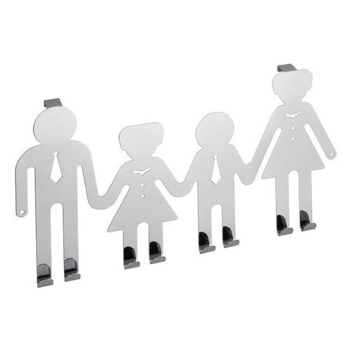 Wenko Wieszak na drzwi happy family, 8 haczyków - stal chromowana, (4008838790069)