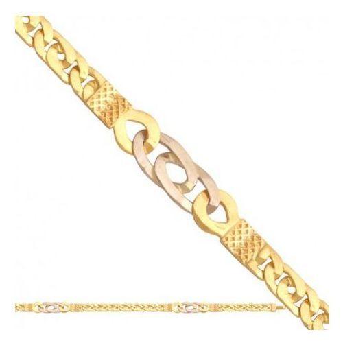 Łańcuszek złoty pr. 585 - lm007 marki Rodium