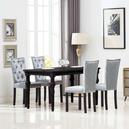 Krzesła do jadalni, 4 szt., aksamitne, srebrne marki Vidaxl
