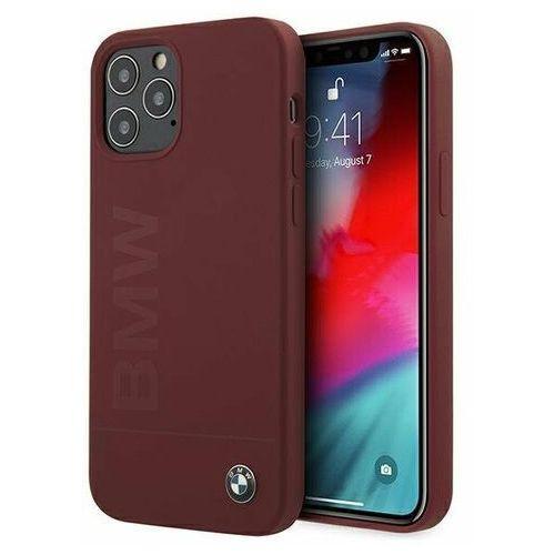 """Etui BMW BMHCP12MSLBLRE iPhone 12/12 Pro 6,1"""" czerwony/red hardcase Silicone Signature Logo, kolor czerwony"""