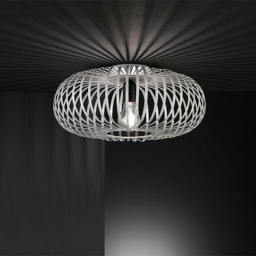 Trio Druciana lampa sufitowa johann 606900161 industrialna oprawa metalowa klatka druciak szara