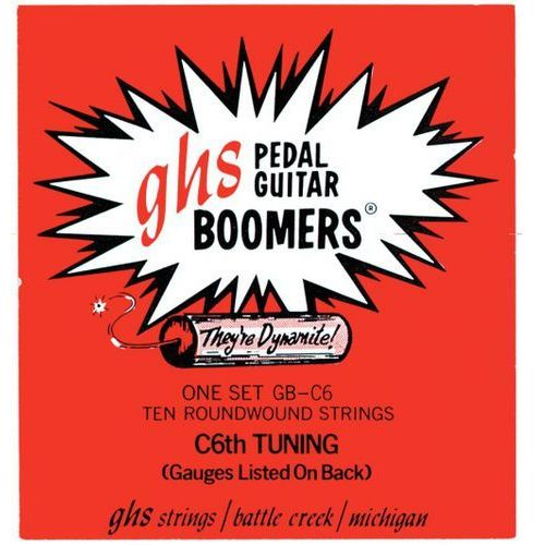 pedal steel boomers ″ struny do pedal steel guitar, 10-strings, c6 tuning,.015-.070 marki Ghs