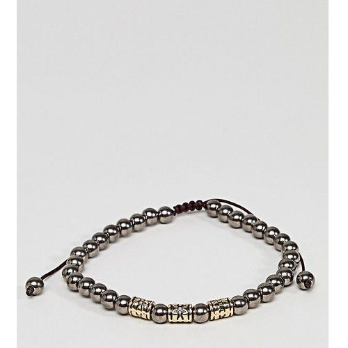 Designb beaded bracelet in gunmetal exclusive to asos - silver marki Designb london