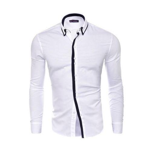 Koszula męska długi rękaw rl19 - biały, w 5 rozmiarach