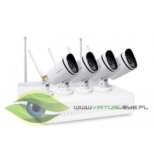 Foscam Zestaw do monitoringu 4x720p wifi ip fn3104w-b4-1t (1xnvr fn3104wifi, 4xfi9800w, hdd 1tb) (6954836002575)