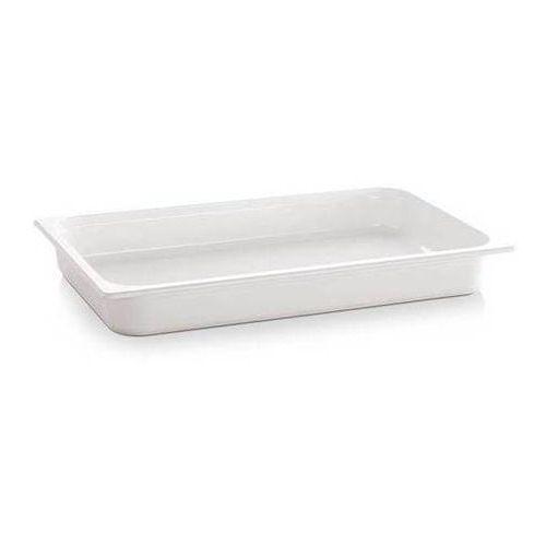 Pojemnik GN z melaminy | GN 1/2 | biały | gł. 65 - 100 mm
