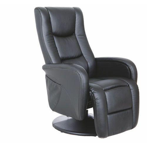 Fotel Pulsar czarny z funkcją masażu kolor czarny, kolor czarny