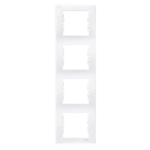 Sedna Ramka poczwórna pionowa Schneider biała SDN5802021, kolor biały