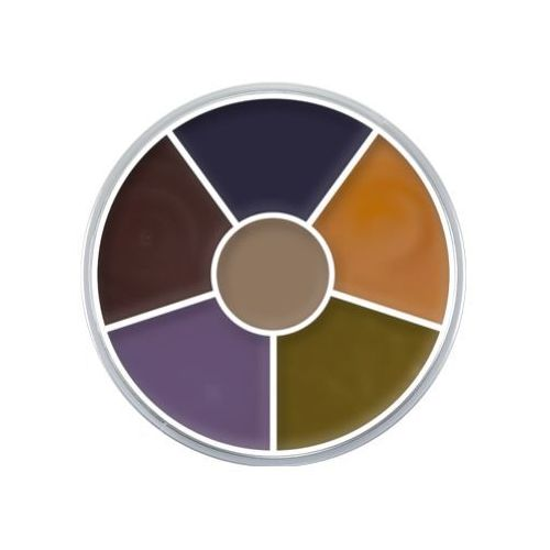Kryolan CREAM COLOR CIRCLE (BRUISE) Kółko 6 kolorów farb Supracolor - BRUISE (1306)