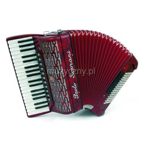Paolo soprani  professionale 96f 37/4/11 96/5/3 musette akordeon (czerwony)