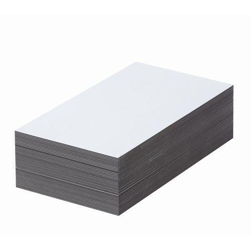 Magnetyczna tablica magazynowa, białe, wys. x szer. 80x200 mm, opak. 100 szt. za marki Haas