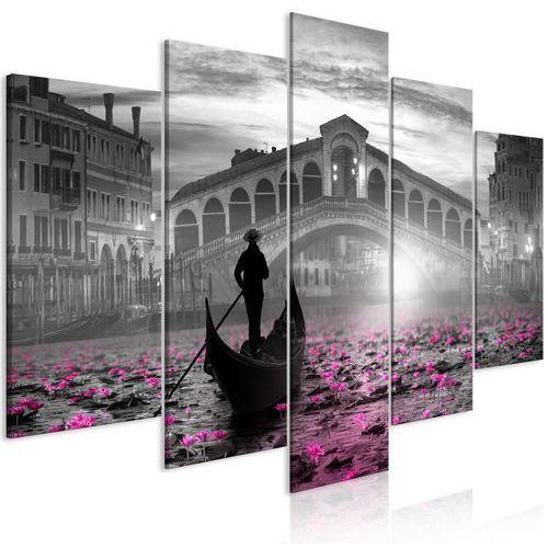 Obraz - magiczna wenecja (5-częściowy) szeroki szary marki Artgeist