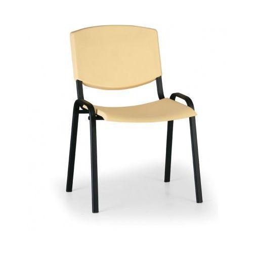 Krzesło konferencyjne Smile, żółty - kolor konstrucji czarny