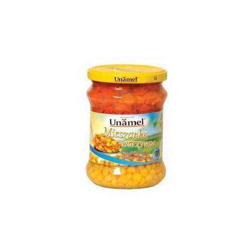 Mieszanka marchew z groszkiem i kukurydzą 440 g Unamel
