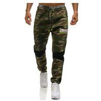 Spodnie męskie dresowe joggery multikolor denley 3782c, Crws dnm
