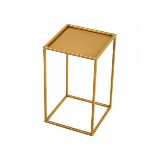 Reqube Stojak metalowy, złoty kwietnik loft 40 cm (5908311189344)