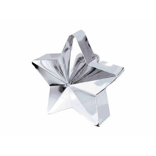 Obciążnik ciężarek do balonów napełnionych helem - gwiazda srebrna - 170 g. marki Amscan