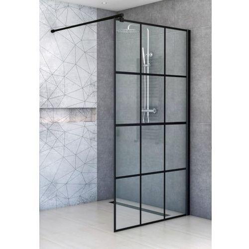 Ścianka Walk In 80 cm szkło z czarnymi szprosami BK251T08A6