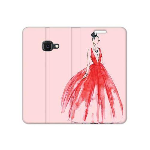 Etuo flex book fantastic Samsung galaxy xcover 4s - etui na telefon flex book fantastic - czerwona suknia