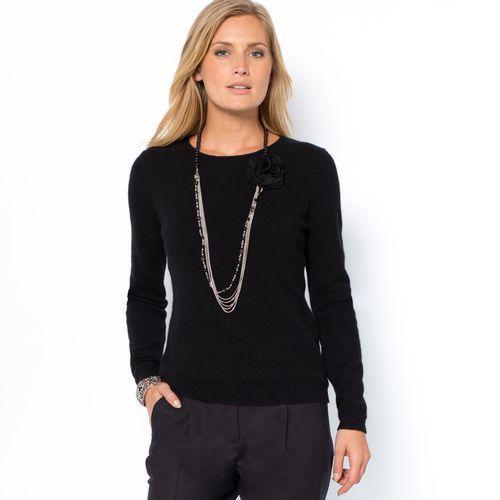 Sweter z okrągłym dekoltem z czystego kaszmiru marki Anne weyburn