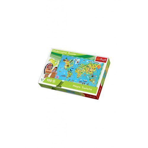 Trefl Puzzle edukacyjne 100 el mapa świata (5900511155020)