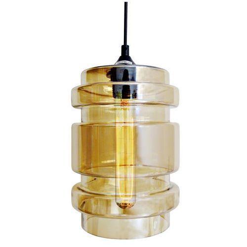 CANDELLUX DECORADO 31-36643 Lampa wisząca 18 1x60W E27 klosz bursztynowy + żarówka
