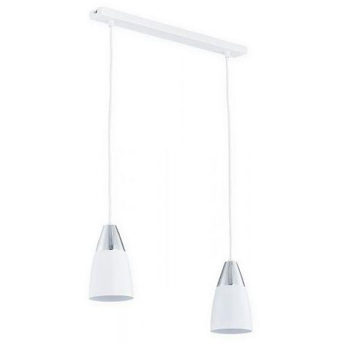 Lemir kala o2652 w2 bia lampa wisząca zwis 2x60w e27 biały mat / chrom
