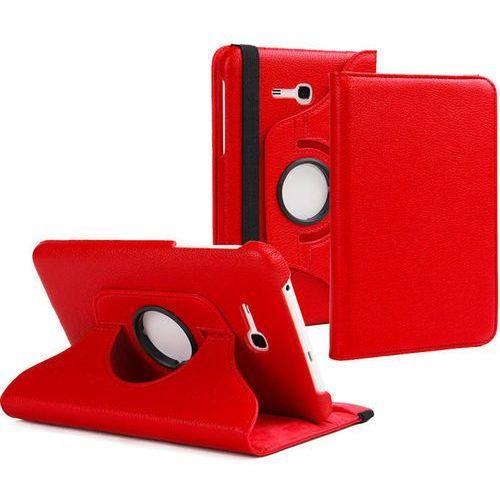 Etui stojak obrotowe do Samsung Galaxy Tab 3 7.0 LITE - Czerwony (etui na tablet)