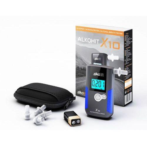 Alkohit Alkomat - x10 elektorchemiczny + kalibracje + etui + gratis