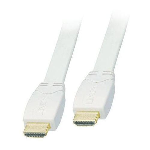 Kabel HDMI biały płaski FullHD Lindy 41164 5m