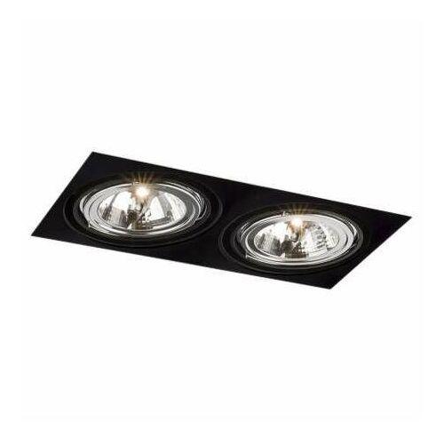 Wpust LAMPA sufitowa KOMORO H 3350 Shilo prostokątna OPRAWA podtynkowa OCZKA regulowane czarne, kolor biały;czarny