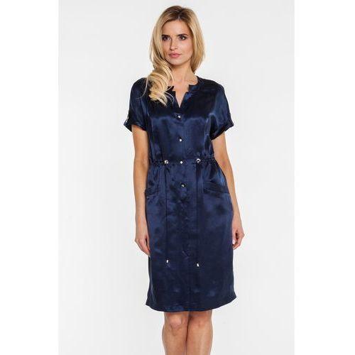 Koszulowa sukienka z tkaniny cupro - marki Vito vergelis