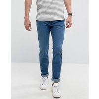 man slim jeans in mid wash blue - blue marki Mango
