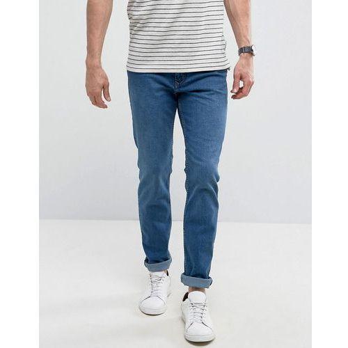 Mango Man Slim Jeans In Mid Wash Blue - Blue, kolor niebieski