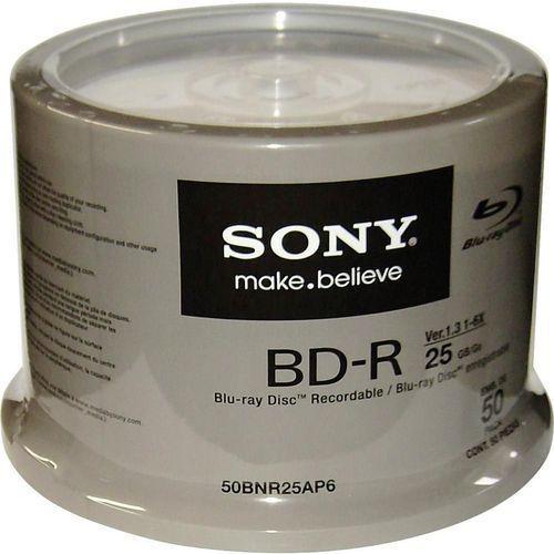 Blu-ray bd-r x6 25gb ink-jet printable cake-box 50szt. marki Sony