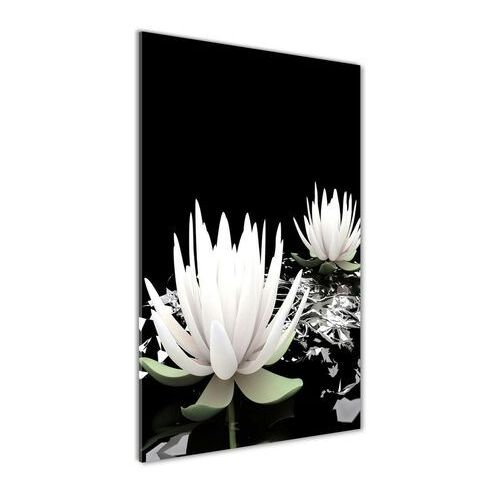 Nowoczesny fotoobraz akrylowy Kwiat lotosu