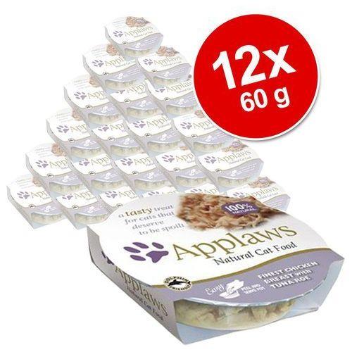 Korzystny pakiet cat pot, 12 x 60 g - delikatna pierś z kurczaka z kaczką marki Applaws