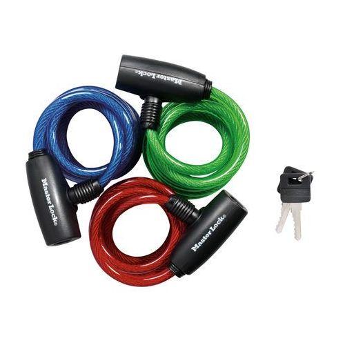 Zapięcie rowerowe MASTERLOCK QUANTUM 8127 8mm 180cm KLUCZYK mix kolorów 3szt. MRL-8127EURTRIPRO SS16 (3520190922342)